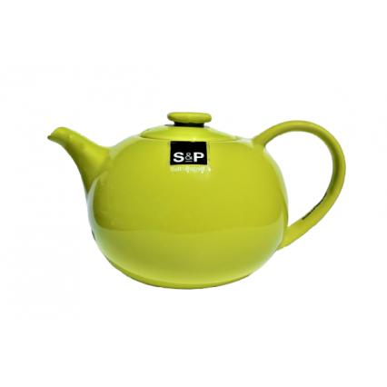 Green porcelain teapot