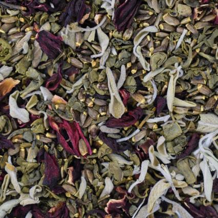 Πράσινο Τσάι - Φασκόμηλο - Ιβίσκος - Γαϊδουράγκαθο (σπόροι))